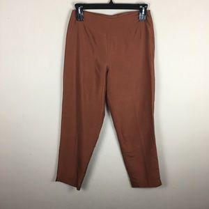 Vintage rust silk high waisted Trouser pants